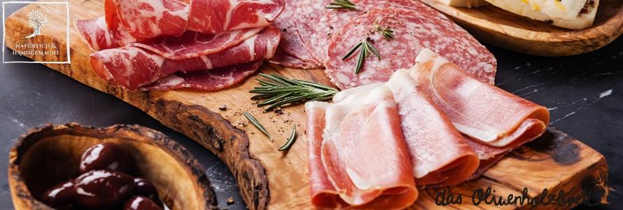 geschmackvoll und professionell servieren auf Olivenholz